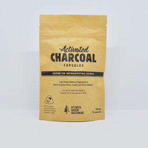 Activated Charcoal Capsules Support for GI distress and detox applications
