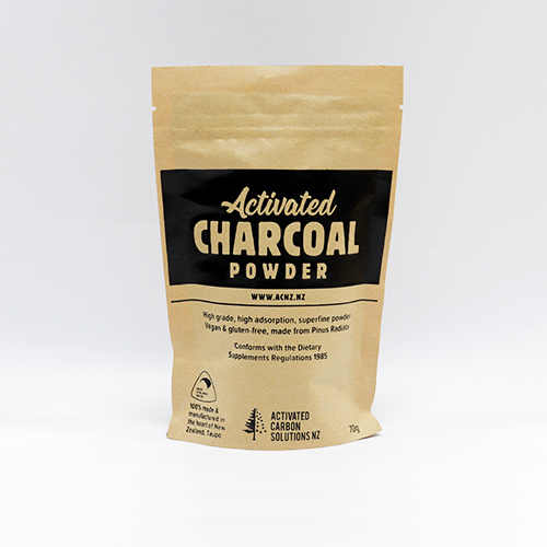 Activated Carbon Activated Charcoal powder made in New Zealand. Commonly added to homemade beauty products and foods for its purifying and detoxifying properties